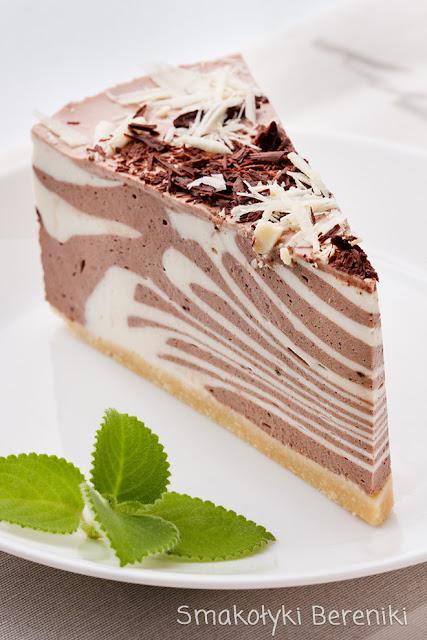 Sernik zebra kakaowo-waniliowy