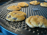 Chocolate Chip Cookies Baked on the Presto Pizzazz Plus