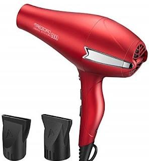 Hair Dryer, Professional Ionic Blow Dryer, Salon 2200 watt Ceramic Tourmaline Quiet Hairdryer red (Best Hair Dryer, Best Blow Drye)