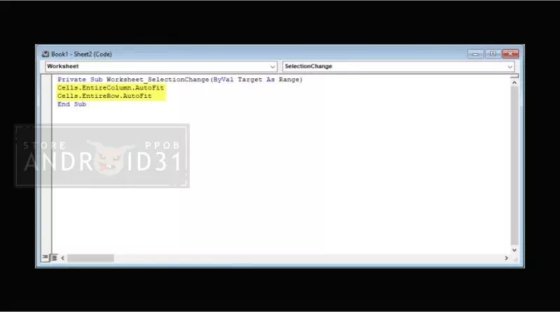 Fit Otomatis Kolom dan Baris Microsoft Excel