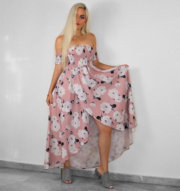 floral romantic dress