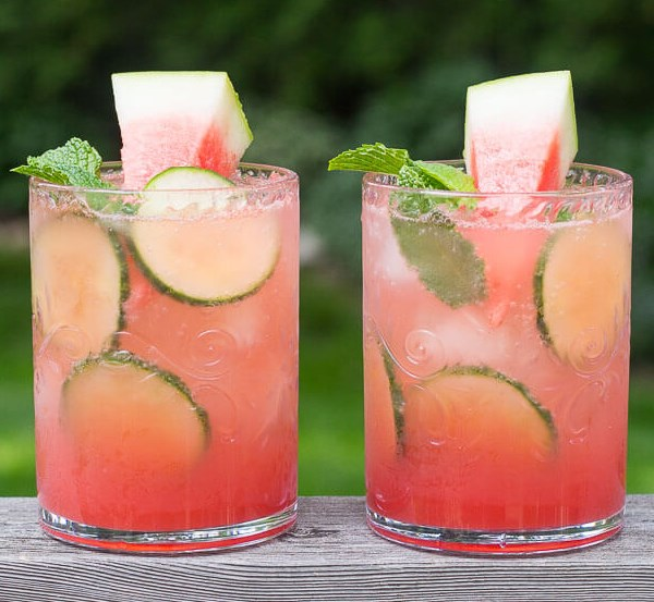 WATERMELON & CUCUMBER MOJITOS #drinks #cold