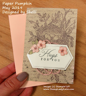 Card designed by Shelli Gardner, from the May Paper Pumpkin Craft Kit by Stampin'UP!
