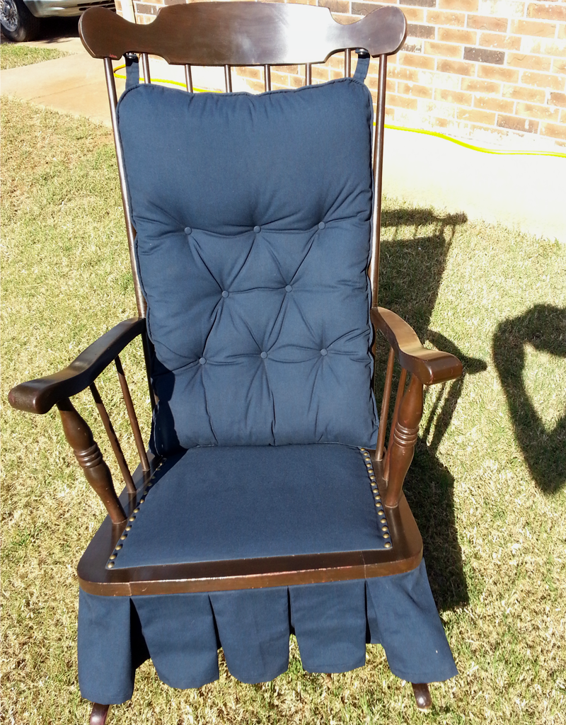 separation shoes dacf5 84b30 Antique Platform Glider Rocking Chair (Downtown Oklahoma ...
