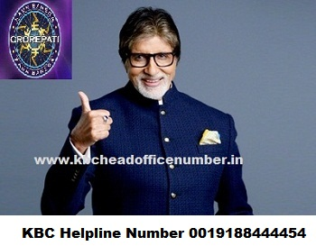 kbc helpline number 0019188444454 for online registration