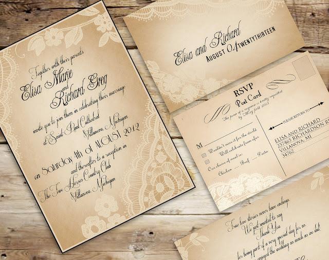 Antique Wedding Invitations Picture