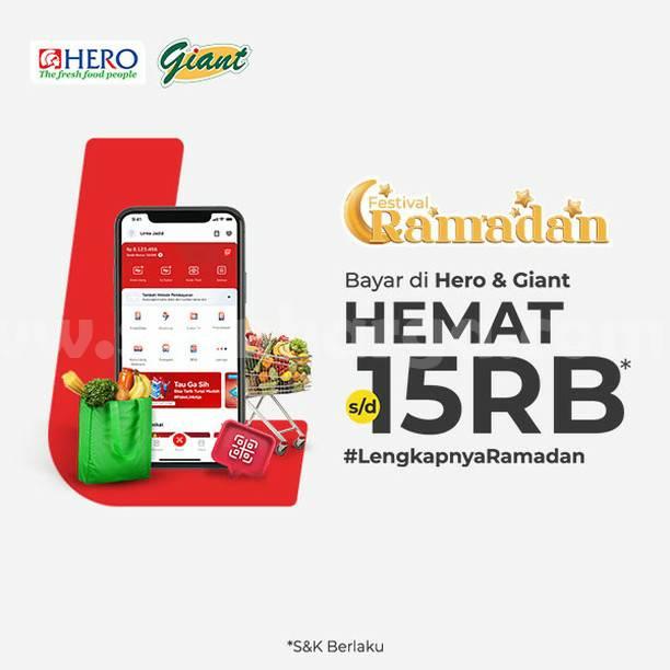 GIANT Promo Cashback Rp. 15.000 untuk transaksi dengan LinkAja