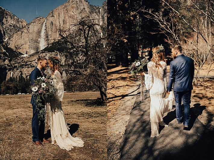 Intimate Bohemian Wedding Inspiration in Yosemite Valley | Randi Kreckman Photography