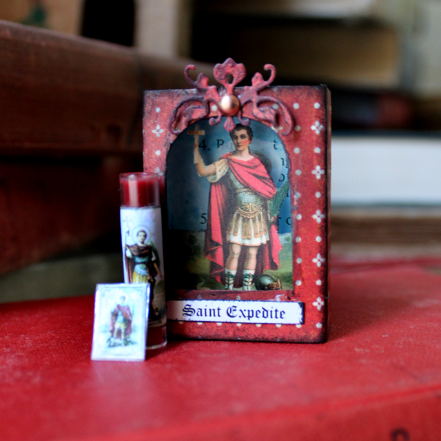 St. Expedite Matchbox Shrine - Nichola Battilana