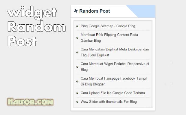 Cara membuat Random Post hanya Judul dan tanpa gambar di Blogspot