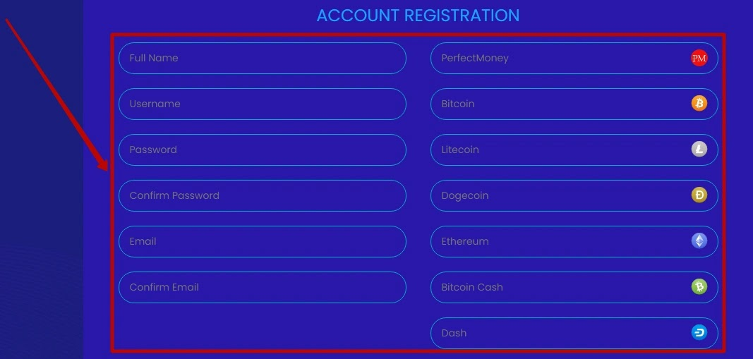 Регистрация в BitLana 2
