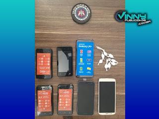 Polícia recupera celulares