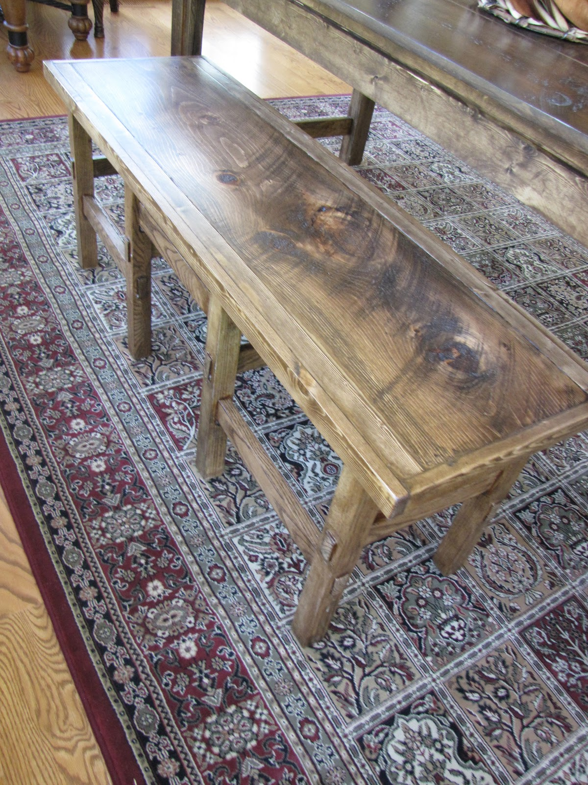 Farmhouse Bench From Two Counter Height