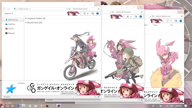Windows 10 Ver. 1803 Theme Sword Art Online Alternative Gun Gale Online by Enji Riz