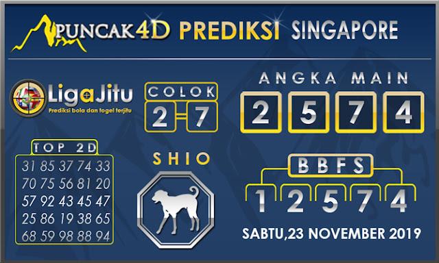 PREDIKSI TOGEL SINGAPORE PUNCAK4D 23 NOVEMBER 2019