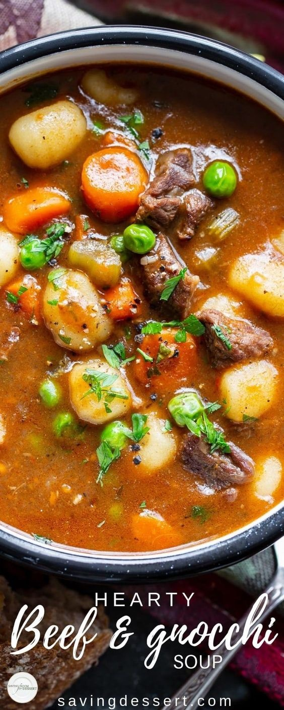 Beef and Gnocchi Soup