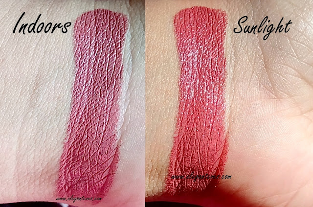 Review swatches Maybelline Colorshow Lipstick Choco-Latte