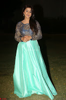 Nikki Galrani in Green Skirt  Top at Marakathamani music launch ~  Exclusive (151).JPG