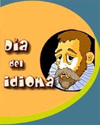 Gráfico al Día del Idioma con Miguel de Cervantes Saavedra