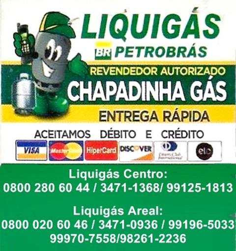 Compre seu Gás Aqui! CHAPADINHA GÁS, revendedor autorizado Liquigás - marca Líder em Qualidade!