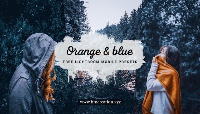 Orange and blue lightroom mobile presets free download