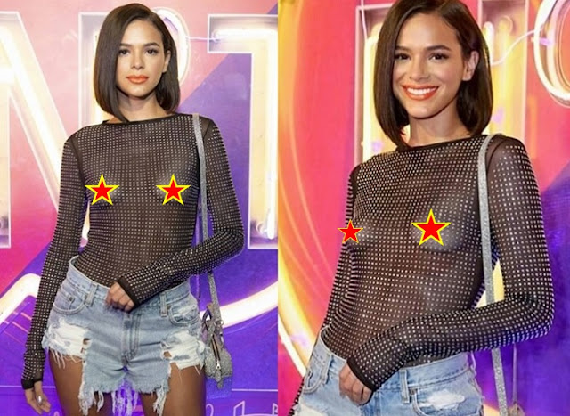Bruna Marquezine com roupa transparente (Imagem: Reprodução/Internet)