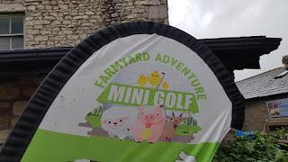 Farmyard Adventure Mini Golf course at Greenlands Farm Village in Tewitfield, Carnforth