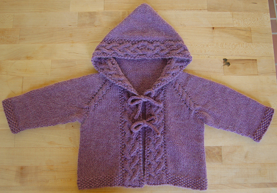 Daily Knitting Patterns Easy Baby Cardigan