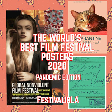 THE WORLD'S BEST FILM FESTIVAL POSTERS 2020 Pandemic Edition