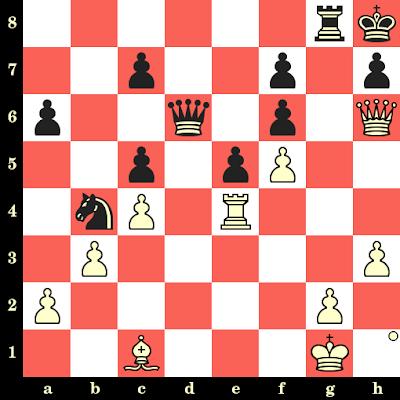 Les Blancs jouent et matent en 4 coups - John Nunn vs Lajos Portisch, Reykjavik, 1988