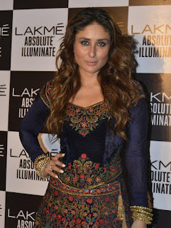 Kareena Kapoor Funny Photos In Blue Dress