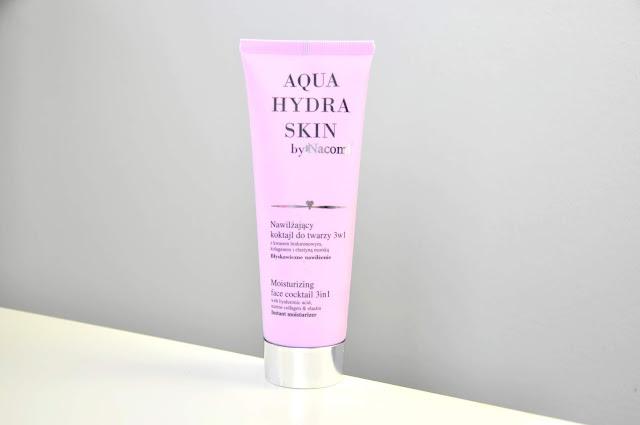 nawilżający koktajl do twarzy 3w1 nacomi aqua hydra skin