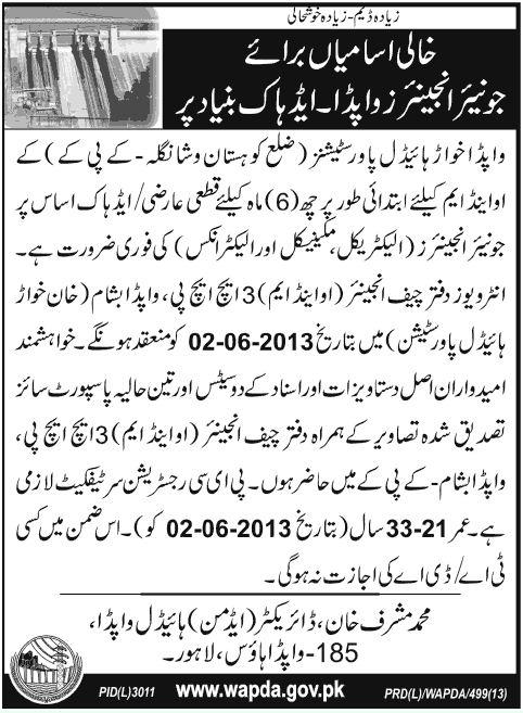 Jobs in Wapda Lahore - PAPERPK JOBS | SAARI NEWS