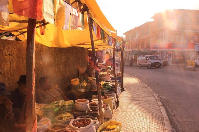 Ladakh Spice Market in Old Town of Leh Ladakh, India