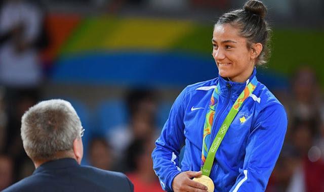 Majlinda Kelmendi wins the gold medal at the European Games in Minsk