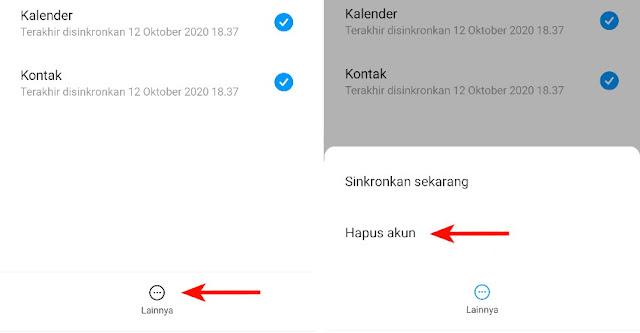 Pilih Hapus akun Google di HP Xiaomi