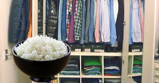 ضع كوبًا من الأرز في خزانة ملابسك وانظر ما يحدث