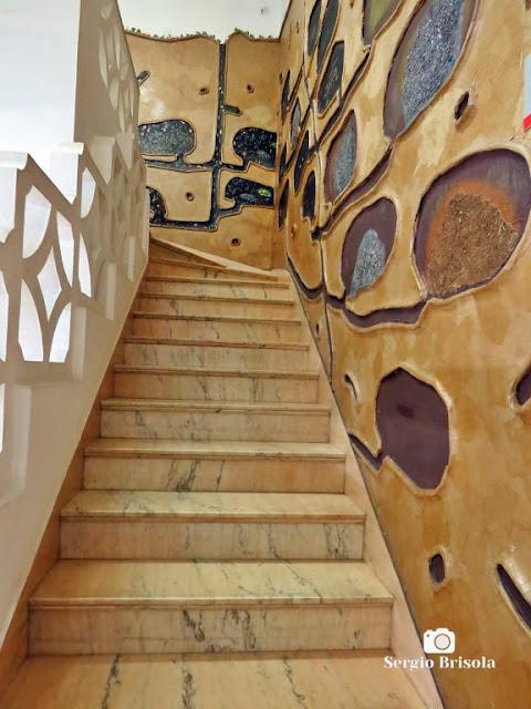 Vista da Escadaria temática do Museu do Instituto Biológico - Planeta Inseto - Vila Mariana - São Paulo