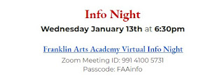 Franklin Arts Academy - Info Night - Jan 13, 2021