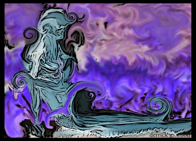 figure art human abstract abstractive model blue purple weird