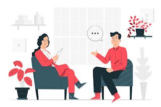 homem e mulher se comunicando png entrevista de emprego