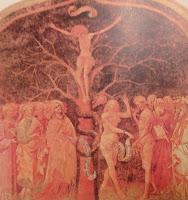 Jesus gekreuzigt am Weltenbaum, Baum des Lebens