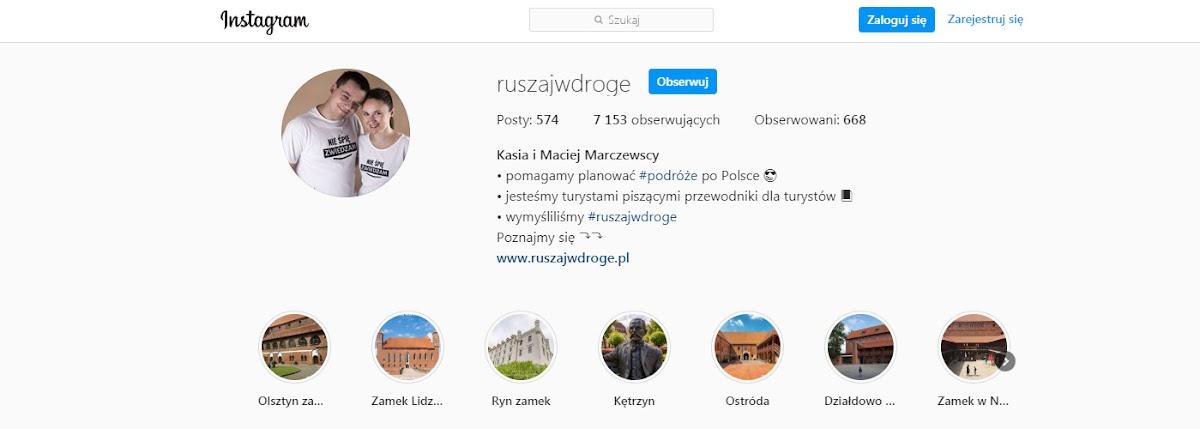 Oglądaj nasze filmy z Warmii i Mazur na Instagramie Ruszaj w Drogę