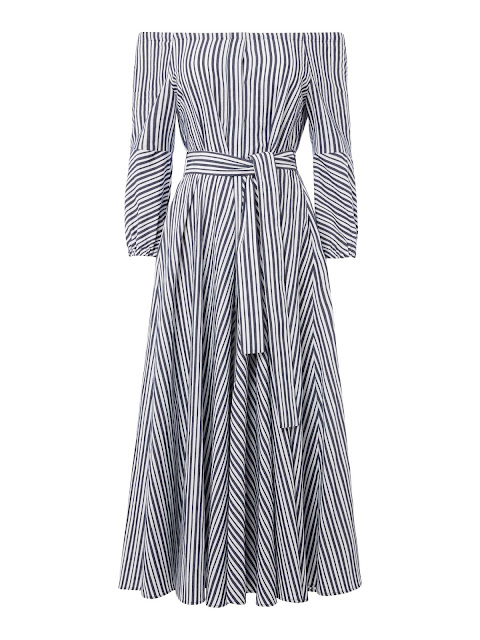 Marella Silva Off Shoulder Stripe Dress