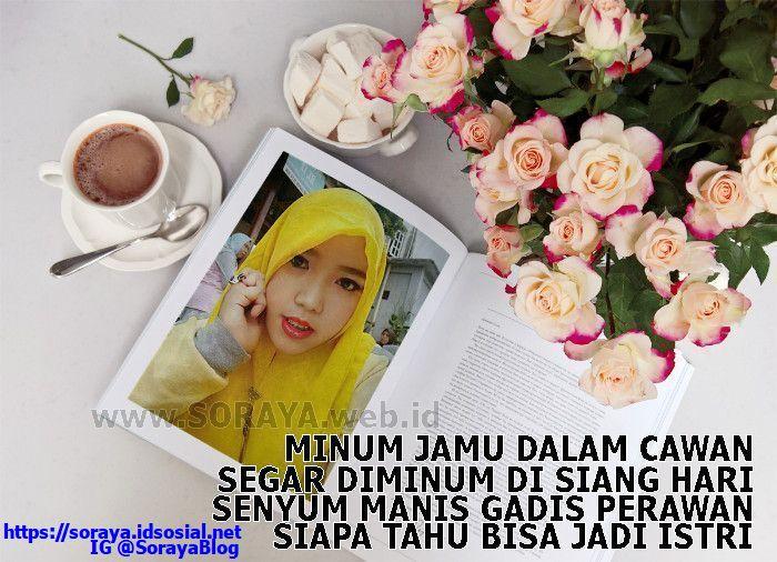 Gambar meme Soraya Pantun Gadis Perawan Cantik Berkerudung Kuning