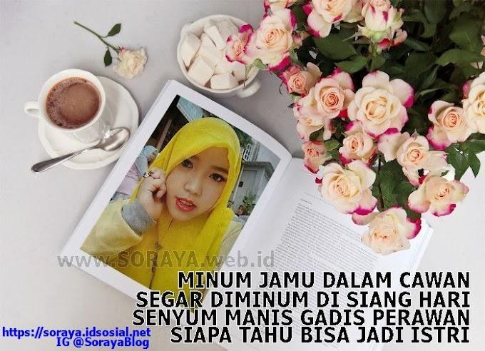 Pantun Gadis Pantun Singkat Pantun Cinta - Gadis Melayu Berkerudung Kuning