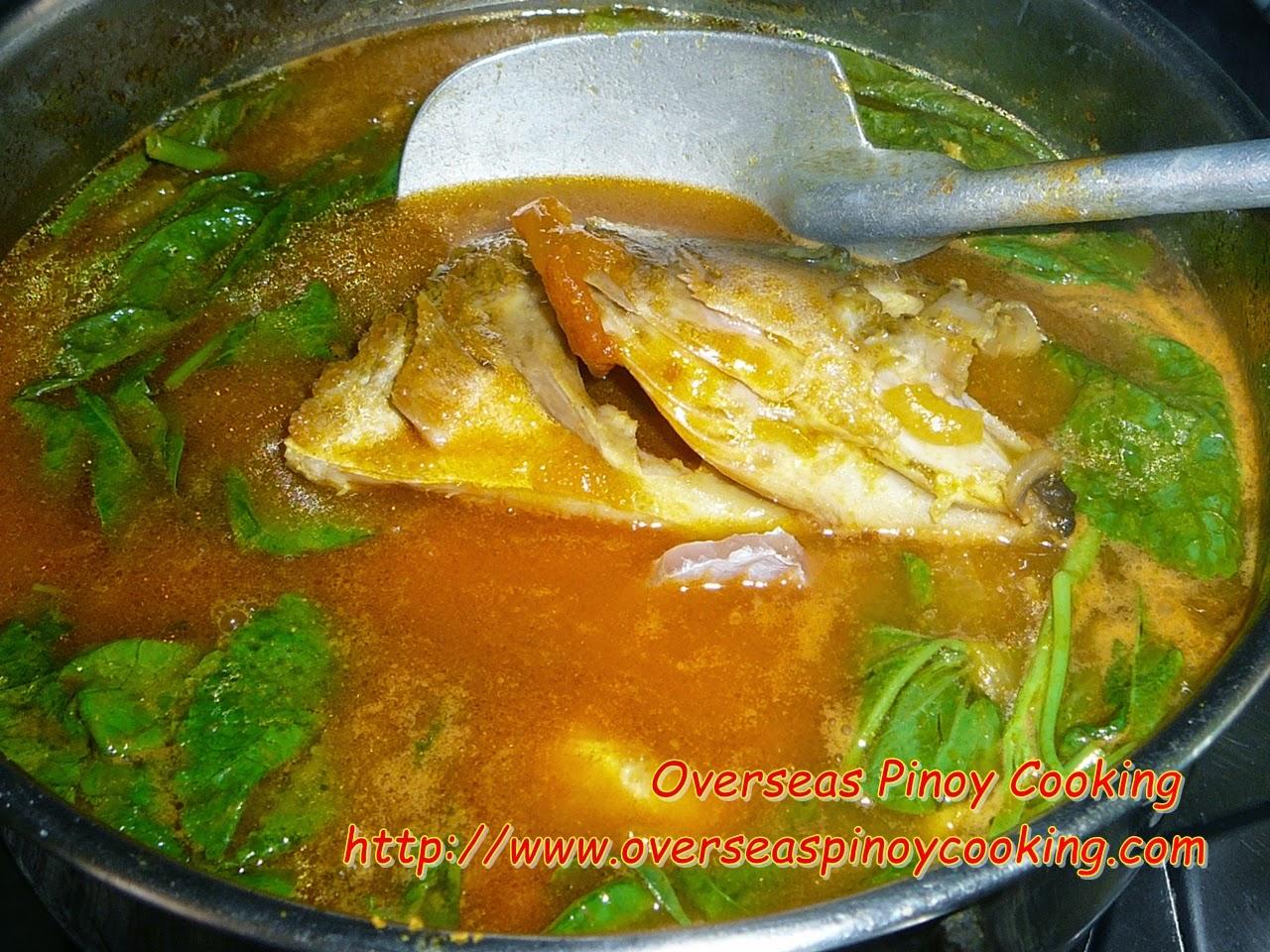 Red Sinigang na Maya-maya sa Miso - Cooking Procedure