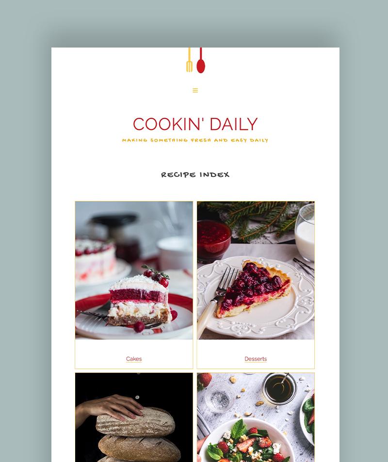 auto updating recipe index blogger theme