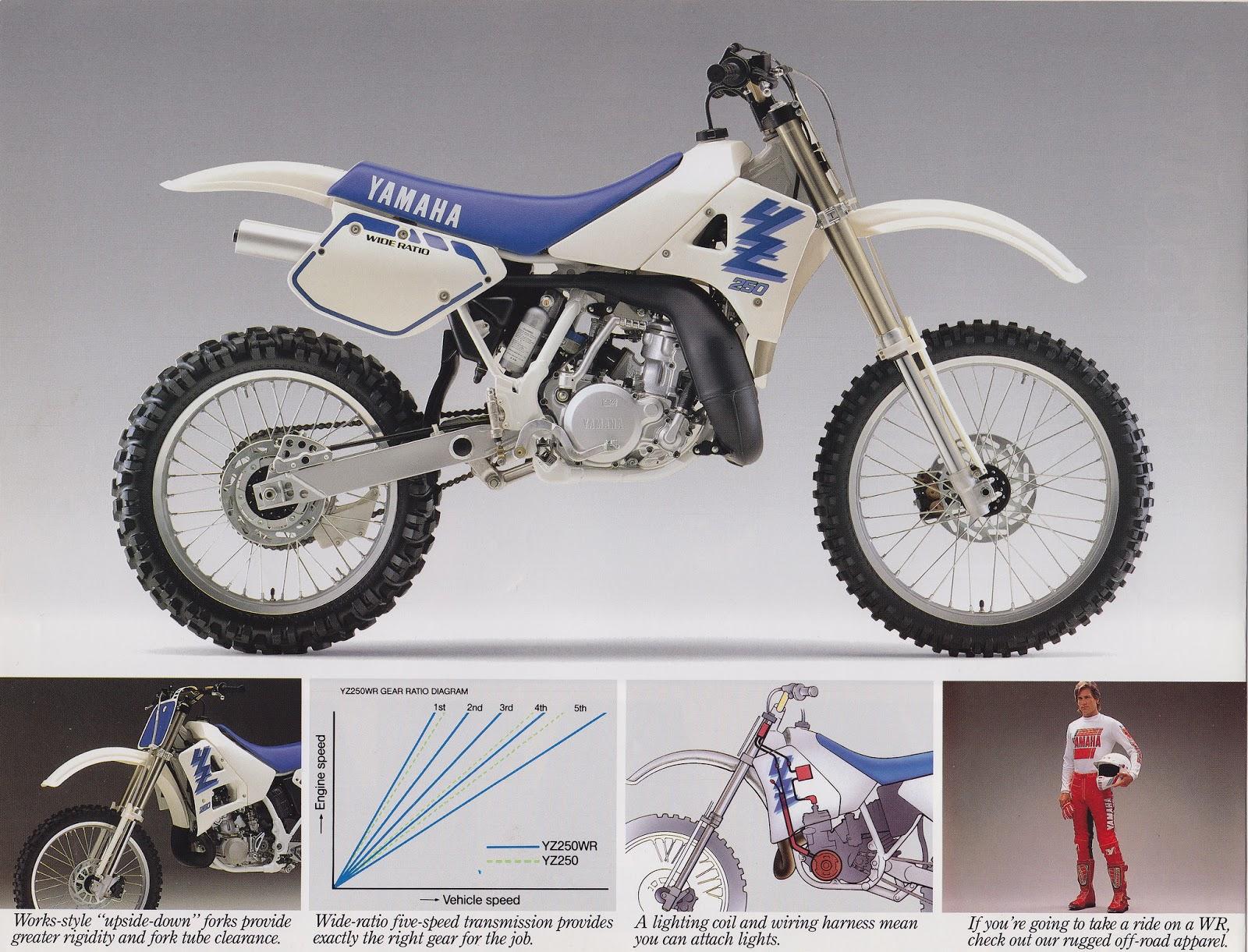 Racing Cafè: Vintage Brochures: Yamaha YZ 250 WR 1989 (Usa) on