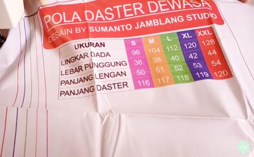 Unboxing Pola Jahit Daster Dewasa Ukuran S M L XL XXL